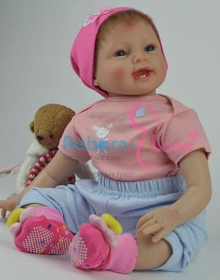 Кукла реборн Веселушка