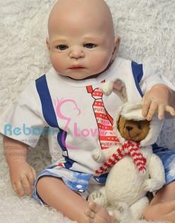 Кукла реборн в галстуке (арт. #2)